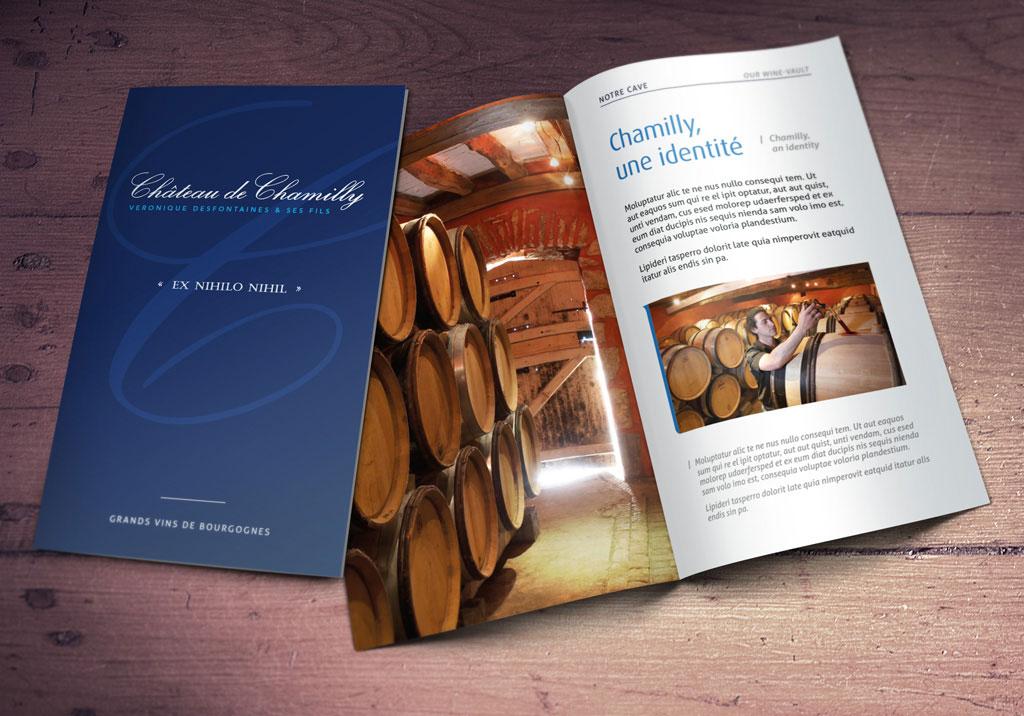 Brochure pour le Château de Chamilly - ZONALPHA | Agence de communication