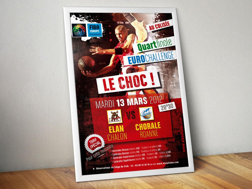 Affiche de match pour l'Elan Chalon - ZONALPHA | Agence de communication