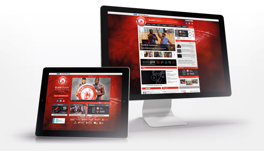 Site internet de l'Elan Chalon - ZONALPHA | Agence de communication
