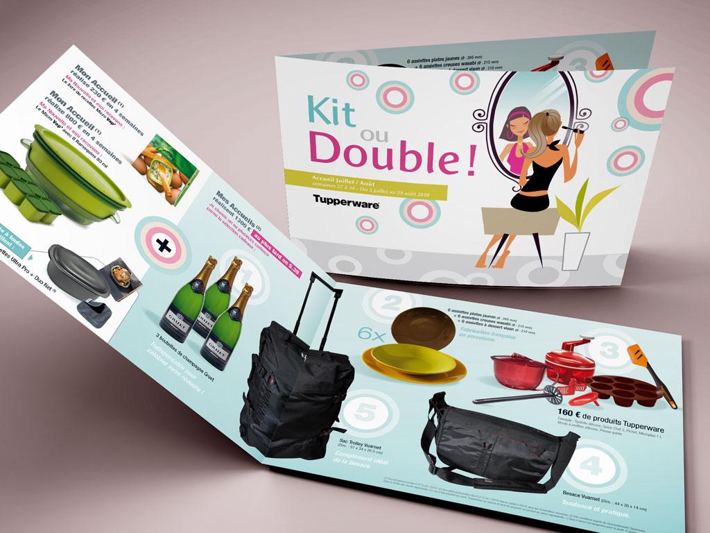 Illustration pour dépliant et packaging Tupperware - ZONALPHA | Agence de communication