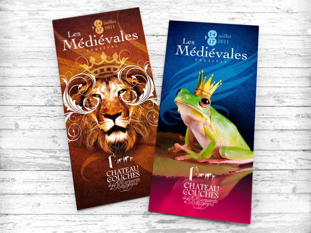 Flyer pour le Festival Les Médiévales au Château de Couches - ZONALPHA | Agence de communication
