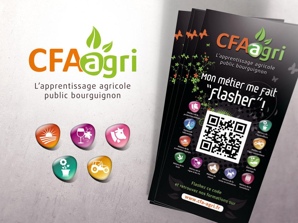 Identité visuelle et logo pour les CFA de Saône et Loire - ZONALPHA | Agence de communication