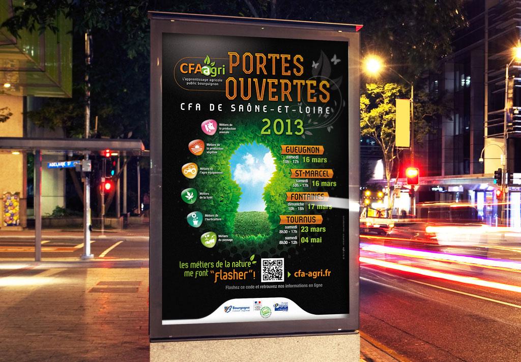 Identité visuelle et affiche pour les CFA de Saône et Loire - ZONALPHA | Agence de communication