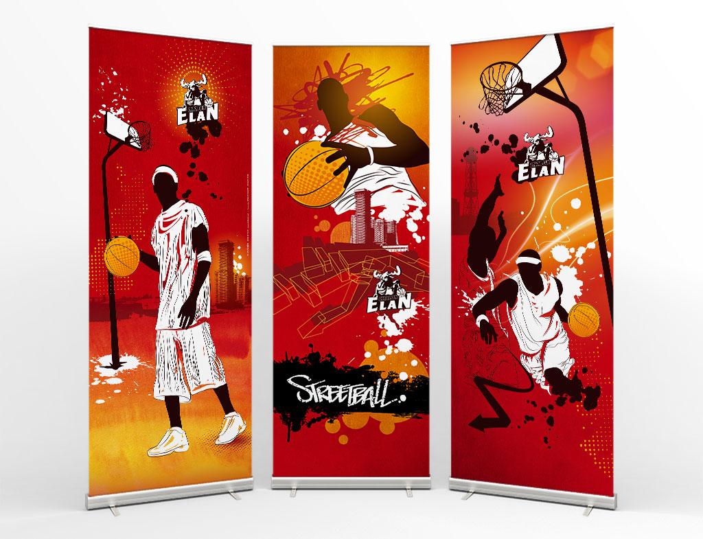 Illustration affiche pour l'Elan Chalon - ZONALPHA | Agence de communication