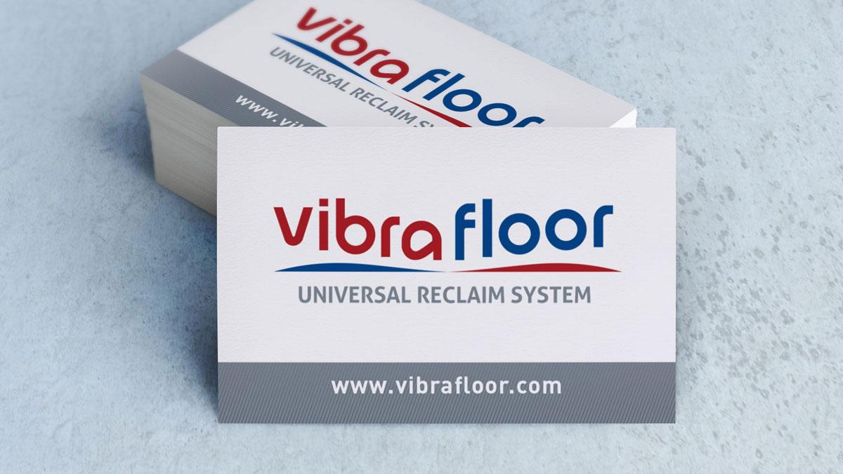 Logo et carte de visite pour Vibrafloor - ZONALPHA | Agence de communication