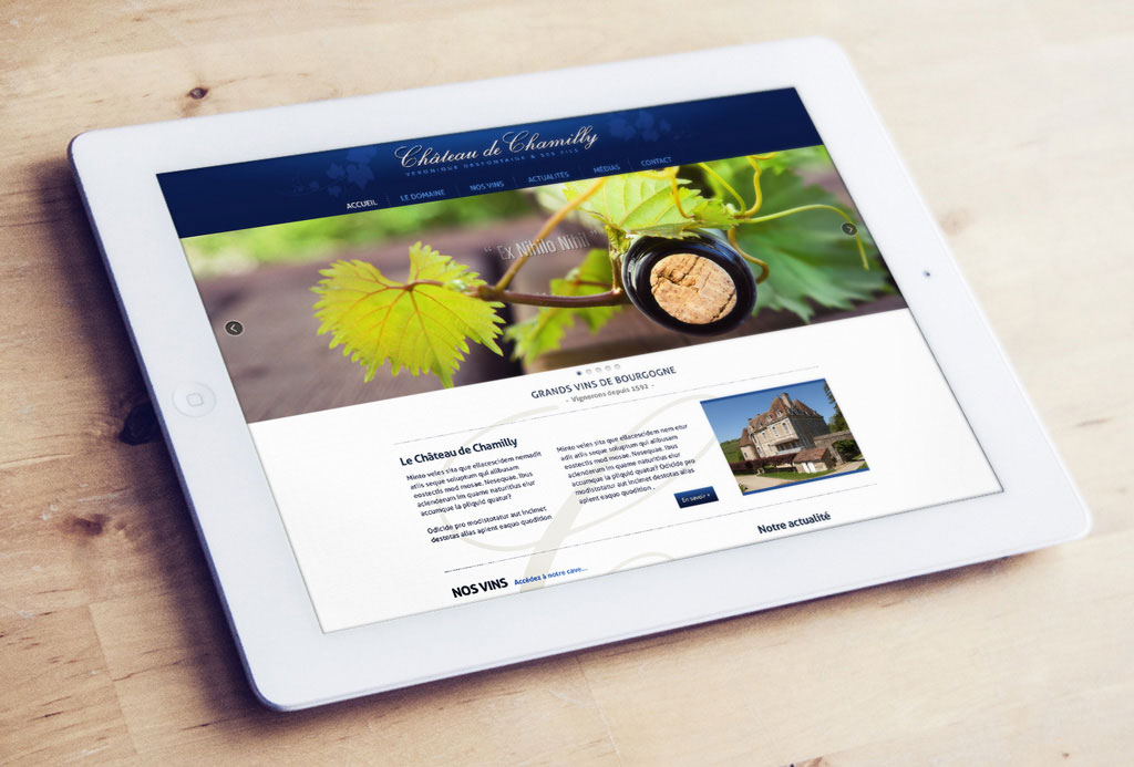 Site internet pour le Château de Chamilly - ZONALPHA | Agence de communication