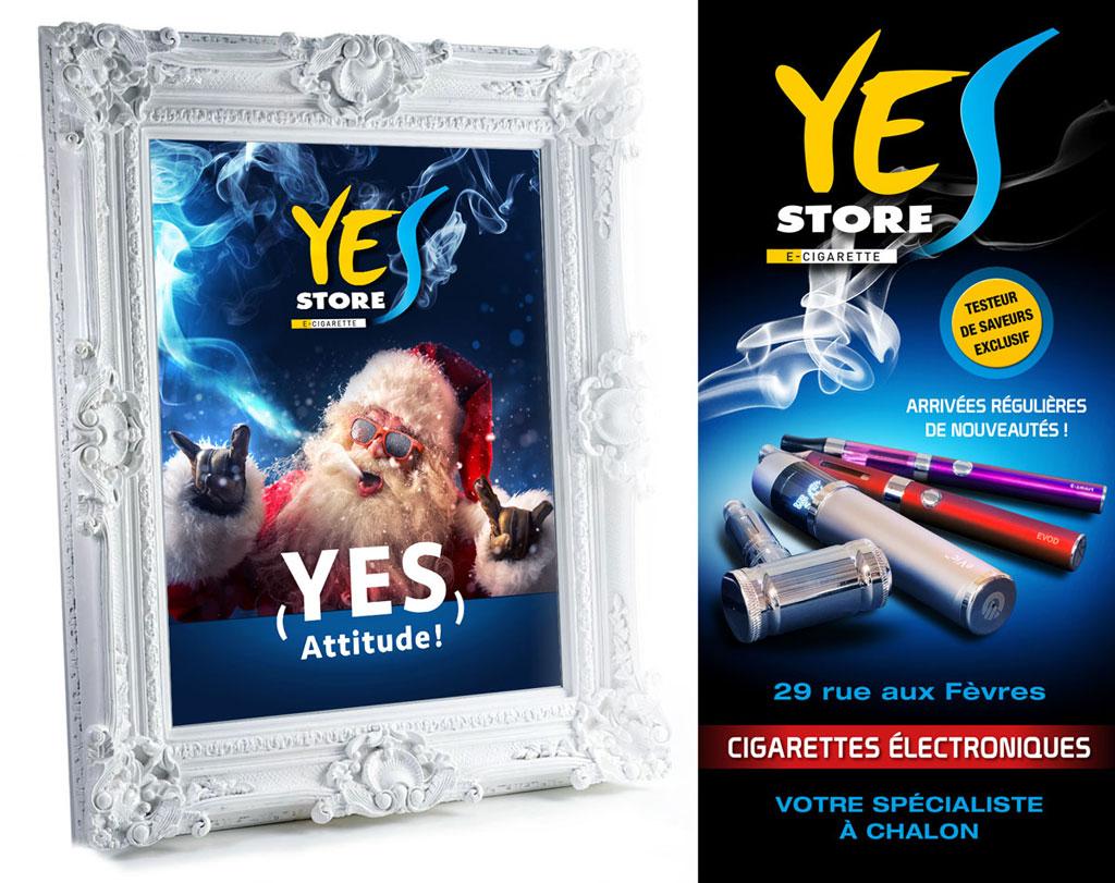 Habillage et communication du Yes Store Chalon - ZONALPHA | Agence de communication